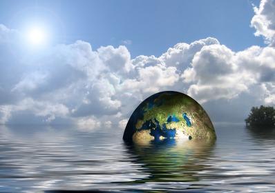 Terre dans le lac COP 21