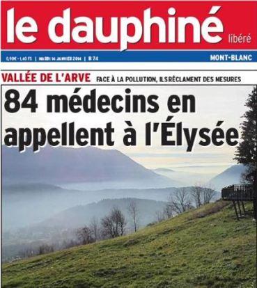 le dauphiné 84 médecins élysée Arve