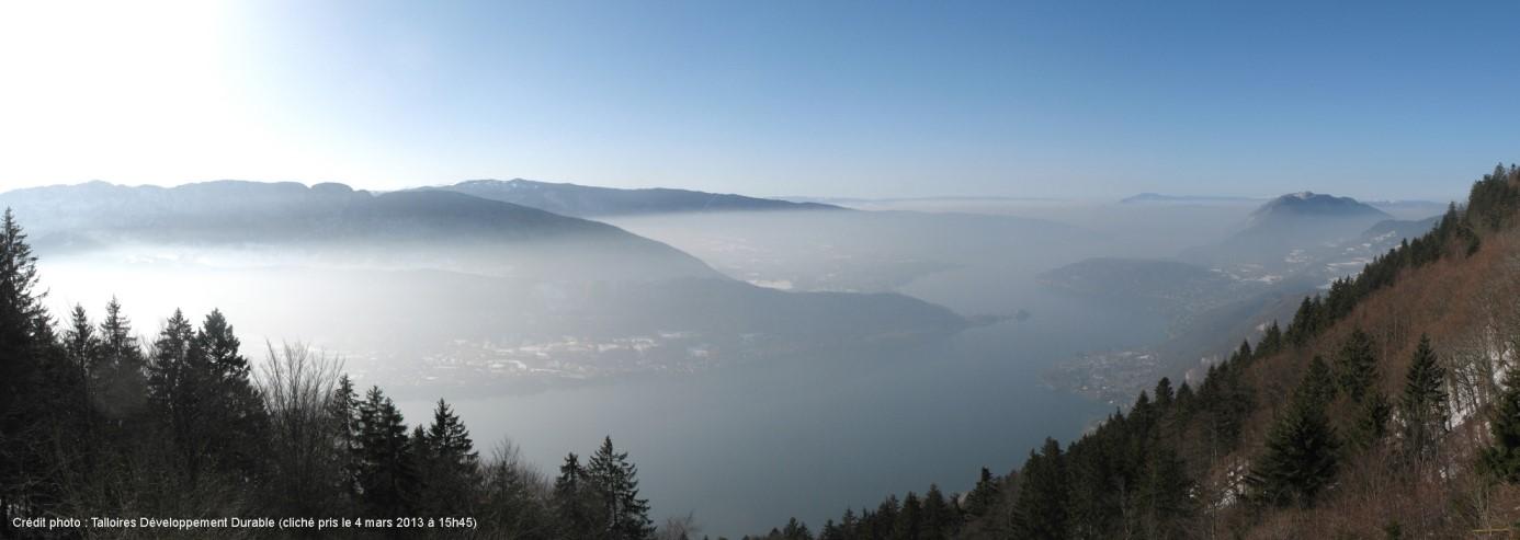 Le bassin annécien un jour de pollution talloir développement durable